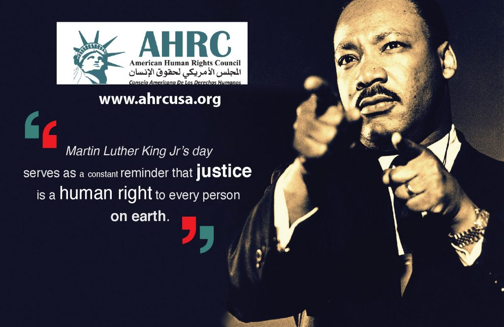 AHRC Honors the Legacy of Dr. King and Pledges to Continue the Struggle for Human Rights: