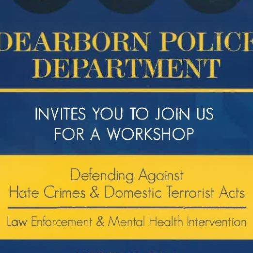 "Public Workshop ""Defending Against Hate Crimes # Domestic Terrorist Acts"", May 19"