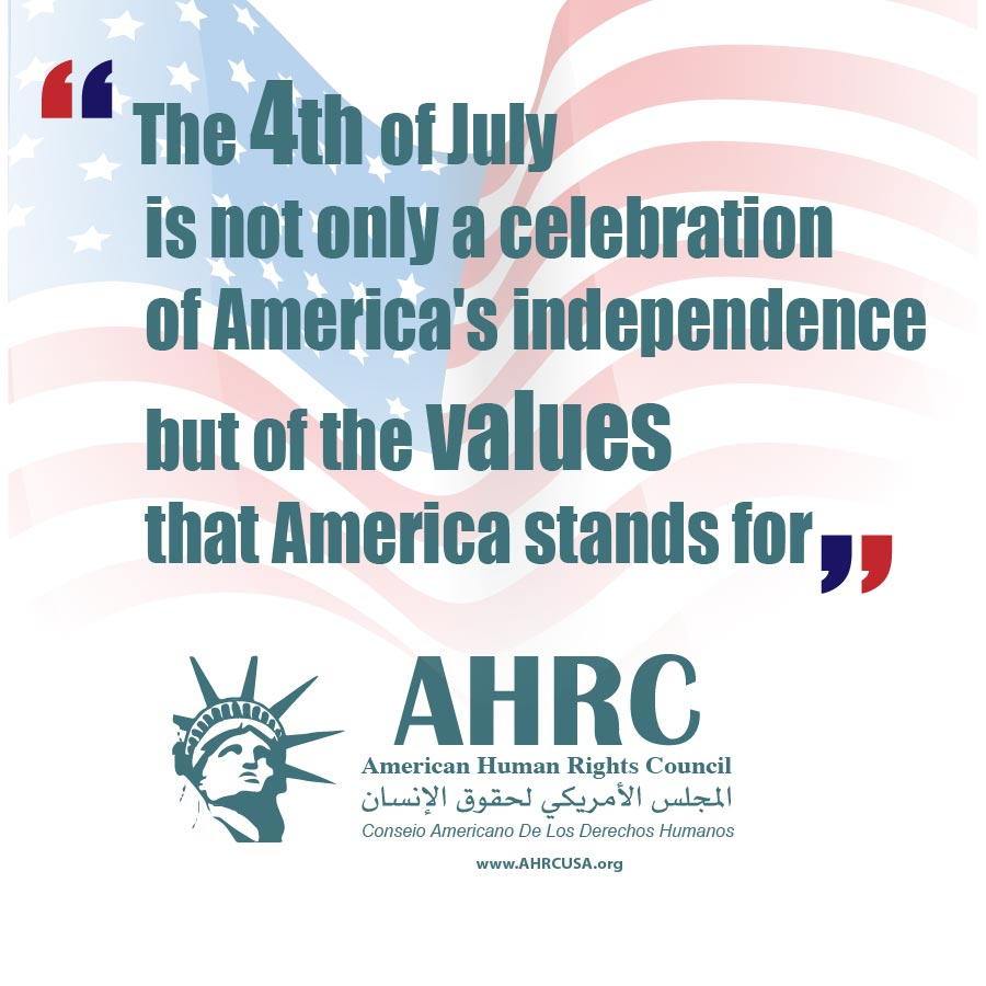 AHRC wishes all Americans a safe and pleasant Fourth of July Holiday: